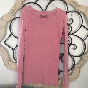 Free People   Long Sleeve Pink Top